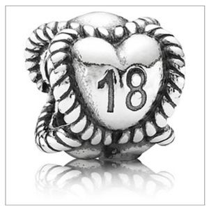 Authentic Pandora 18 Birthday Charm (discontinued)